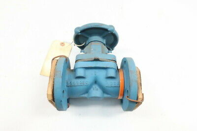 Dow Chemical Manual Iron Flanged Diaphragm Valve 1-1/2in