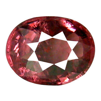 1.09 CT Luxe Coupe Ovale (7 X 5 mm) Tanzanie Rose Malaya Grenade Naturel Gemme