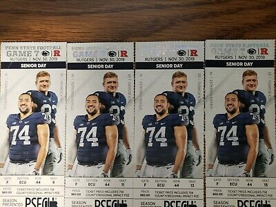 Penn State Nittany Lions vs Rutgers football tickets (4) 11/30/19