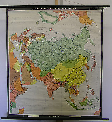 Schulwandkarte School Map Wall Map Map Asian Asia Countries States