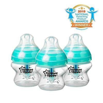 Tommee Tippee Advanced Anti-Colic Baby Bottle, Extra-Slow Flow 3 Count