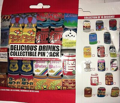 Disney Delicious Drinks Mystery 5 Pin Bag Pack NEW SEALED PIN
