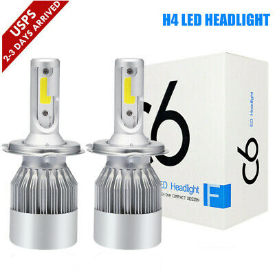 H4 9003 HB2 LED High Low Beam Headlight Bulbs Kit 390000LM 2600W 6000K White C6