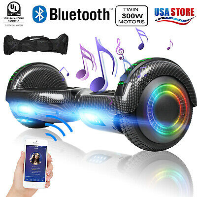 """Electric Hoverboard Bluetooth Speaker LED Flash with Bag Smart Scooter 6.5"""""""