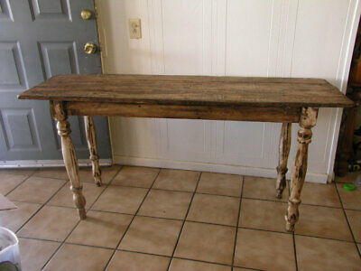 Mexican Rustic Reclaimed Wood Sofa, Console Table