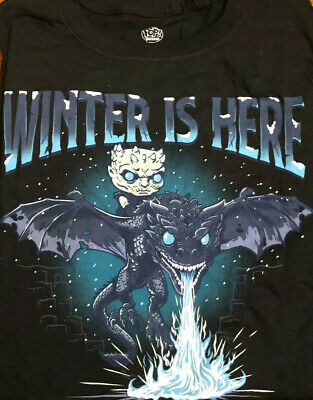 Funko Pop! Tees Game Of Thrones Icy Viserion Size Large Boxlunch Exclusive