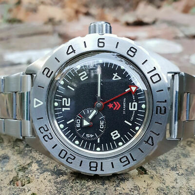 Vostok Komandirskie Watch Russian Automatic Military 650539 (20 Atm)