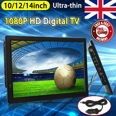 Freeview 1080P HDMI HD 14INCH Portable TV Digital Television Player PVR/USB 12V