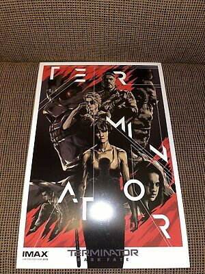RARE LIMITED EDITION 2019 TERMINATOR DARK FATE MINI POSTER 13x19 IMAX