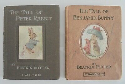 Very early copies of The Tale of Peter Rabbit & The Tale of Benjamin Bunny