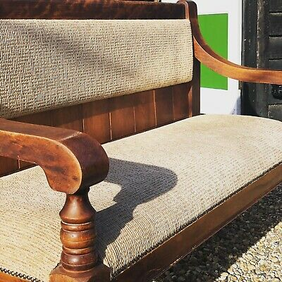 C1900's Edwardian Flame Mahogany Back Bench