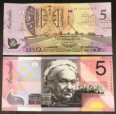 1992 $5 and 2001 $5 POLYMER ORIGINAL ISSUE NOTES..NO RESERVE.