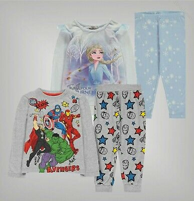 Boys Girls Character Crew Neck Long Sleeve Pyjama Set Sizes Age from 3 to 12 Yrs