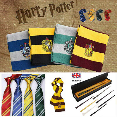 UK Harry Potter Scarf Tie Slytherin-Ravenclaw-Hufflepuff-Gryffindor Gift cosplay