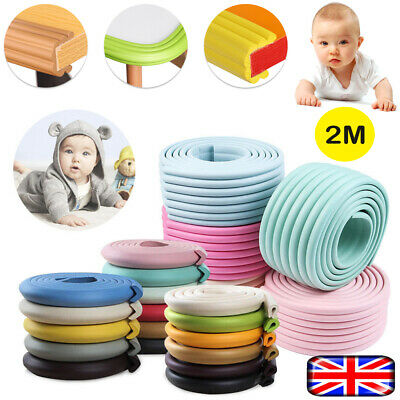 Kids Baby Safety Foam Rubber Bumper Strip Safety Table Edge Corner Protector 2M