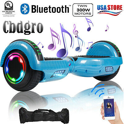"""6.5"""" Bluetooth Hoverboard with Bag LED SideLight Electric Smart Speaker Scooter"""