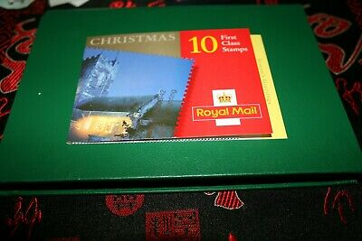 7/11/2000 Royal Mail Barcode Booklet LX19 Christmas 10x 1st 'Church Floodlights'