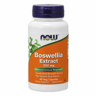 Boswellia Extract with Turmeric Root 250mg 60 Veg Caps | Immunity Inflammation