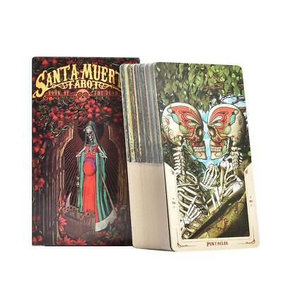 78 Sheets Santa Muerte Tarot Cards Board Game Card English For Family Party