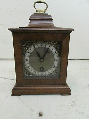 Vintage English 8 Day Miniature Bracket Clock, Fully Running