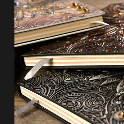 A5 Lined Paper/PU Leather/Elastic/Vintage Diary Notebook/Journal/Hardcover