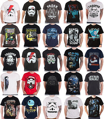 Star Wars T Shirt Last Jedi Stormtrooper Vader Han Solo official new mens