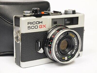 Ricoh 500 GX 35mm Compact Rangefinder Camera with Case. Stock no u10608