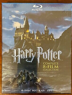 Harry Potter Complete 8-Film Blu-Ray Collection, New and Unopened in plastic