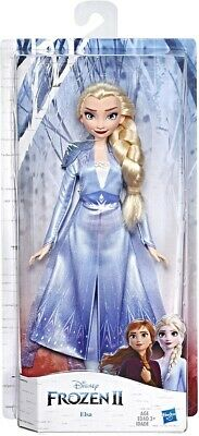 Disney Frozen 2: Elsa Fashion Doll With Long Blonde Hair & Blue Outfit