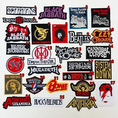 Rock Heavy Metal Punk Band Music Iron On Patches Sew Embroidered DIY #1