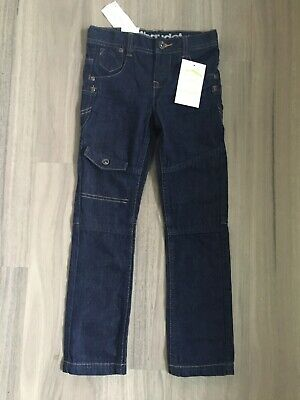 New Vertbaudet Boys Dark Blue Slim Fit  Straight Leg Jeans Age 7 120cm