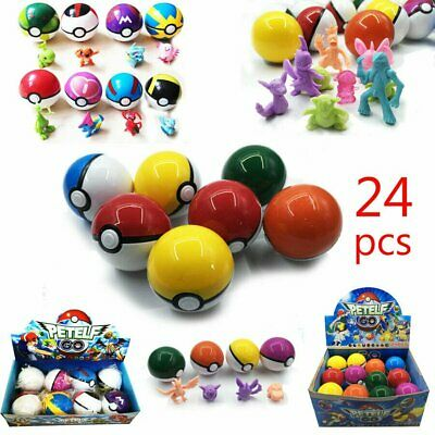 8-24Pcs Pokeball & 8-24Pcs Action Figures Pokeball Pokemon Christmas Toys Gift