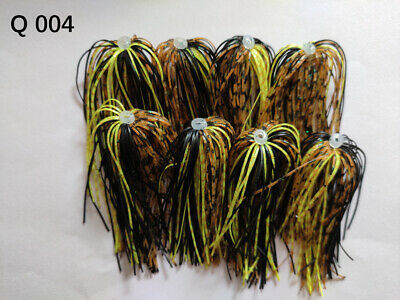 8 Bundles 50 Strands Silicone Skirts Fishing Tackle Buzz Spinner Jig Bass Q 25