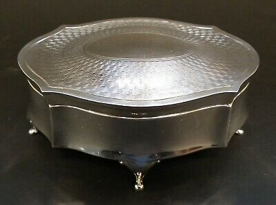 Stunning Antique Solid Silver Jewellery / Ring Box By Henry Williamson - 1909