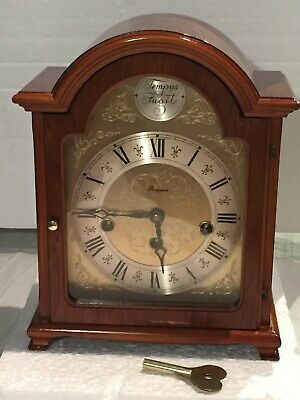 "Vintage 1960's ""RAPPORT"" German, 2 Jewels, Westminster Chime, Oak Wood, Clock"