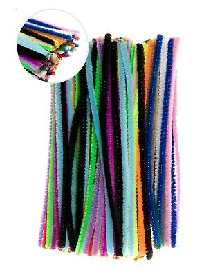Edukit Pack of 120 Pipe Cleaners - Choice of Colours and Sizes -