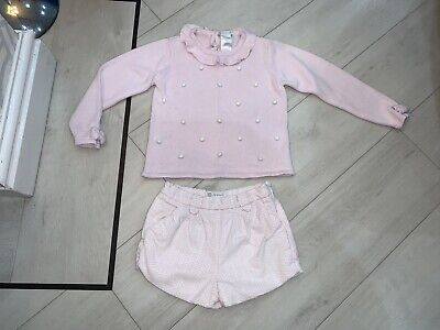 Girls Designer Tutto Piccolo Outfit Jumper & Shorts Age 36 Months Good Condition