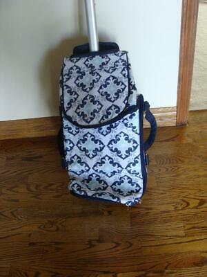 New Thirty-One Wheels-Up Roller  Fab Flourish Rolling Duffel Luggage Carry-On