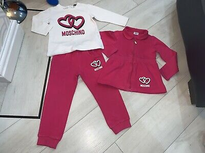 Girls Designer Moschino Outfit Tracksuit & Top Age 3 Years