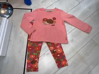 Girls Designer Oilily Hedgehog Outfit Age 3 Years Good Condition