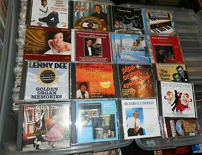 Mixed CD Lot of 17 CDS Lenny Dee, Klaus Wunderlich, Piano Organ Easy Listening +