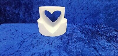 Two Tier Heart Cut-Out Cake Dummy