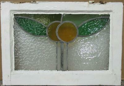 """OLD ENGLISH LEADED STAINED GLASS WINDOW Pretty Pair of Oranges 19.25"""" x 13.5"""""""