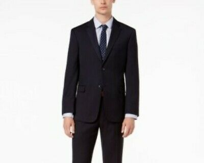 $395 Tommy Hilfiger Shane Navy Modern-Fit Twill Suit Jacket Mens 40R 40 NEW