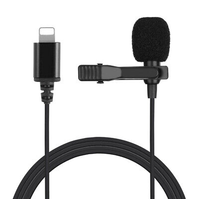 Professional Grade Lavalier Lapel Microphone with Clip for iPhone/Recording E5N1