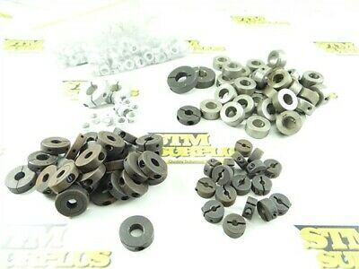 """New 5.5Lb Lot Of Assorted Steel & Aluminum Shaft Collars 3/16"""" To 5/8"""" Id"""