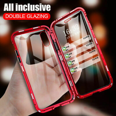 For iPhone 11 Pro Max XS XR 8 7 360° Magnetic Adsorption Double Sided Glass Case