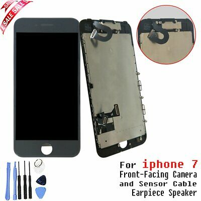 "Digitizer Replacement For Black iPhone 7 4.7"" LCD Touch Screen With Camera"