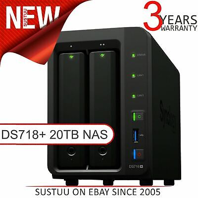 Synology DiskStation 2 Bay Desktop NAS│Storage Unit with 20TB WD RED Hard Drives