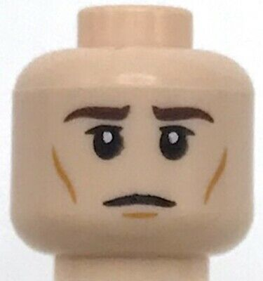 LEGO NEW LIGHT FLESH MINIFIGURE HEAD OLD WITH WRINKLES SCOWL FACE GRANDPA